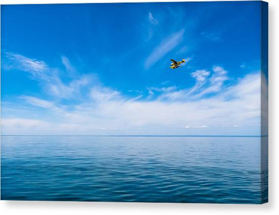 Seaplane Over Lake Superior   Canvas Print