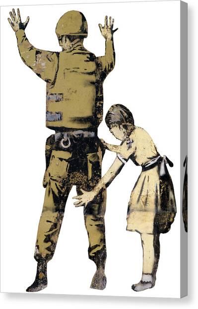 Oppression Canvas Print - Searching A Minor by Munir Alawi