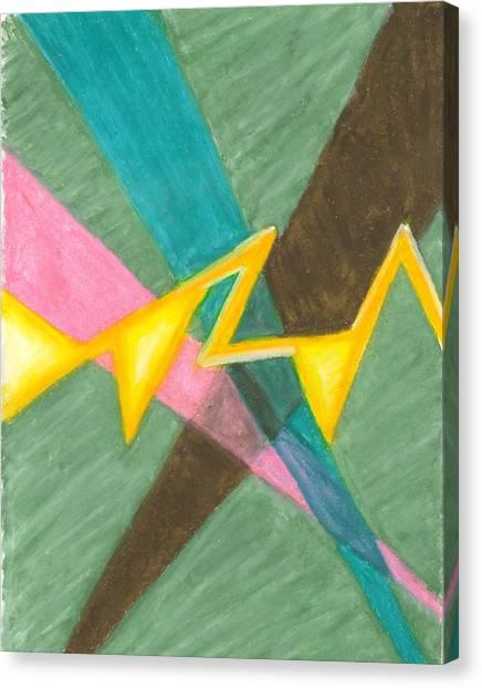 Searchlights Along A Jagged Path Canvas Print