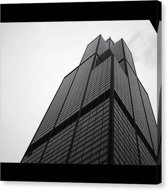 Skyline Canvas Print - Sears Tower by Mike Maher