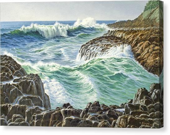 Oregon Canvas Print - Seascape-devil's Churn-oregon by Paul Krapf