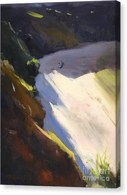 Seascape Drama After Colley Whisson Canvas Print