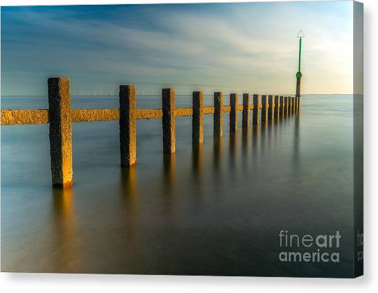 Sea Canvas Print - Seascape Wales by Adrian Evans