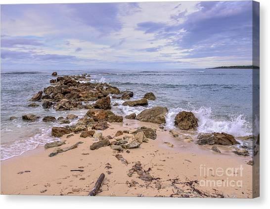Seascape With Rocks Canvas Print