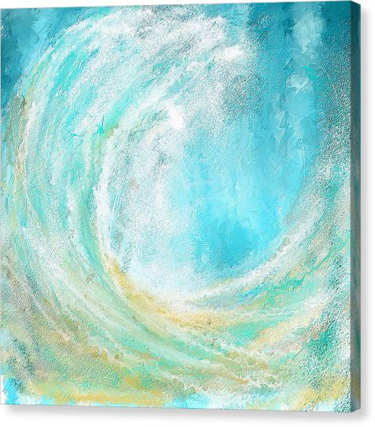 Beach Sunsets Canvas Print - Seascapes Abstract Art - Mesmerized by Lourry Legarde