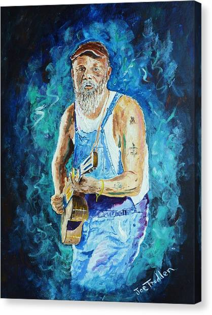 Slide Guitars Canvas Print - Seasick Steve by Joe Trodden