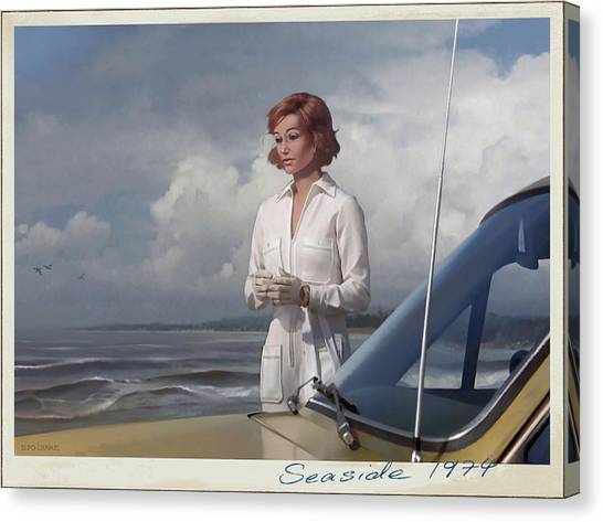 Seaside 1974 Canvas Print