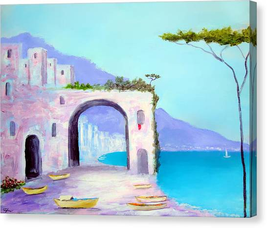 Seaside Colors Of Southern Italy Canvas Print