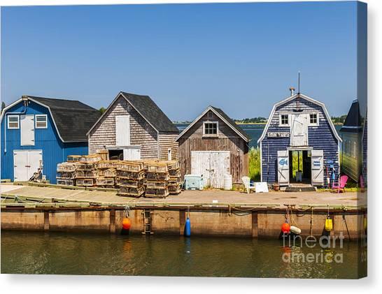 East Village Canvas Print - Seaside Dock Of Prince Edward Island by Elena Elisseeva