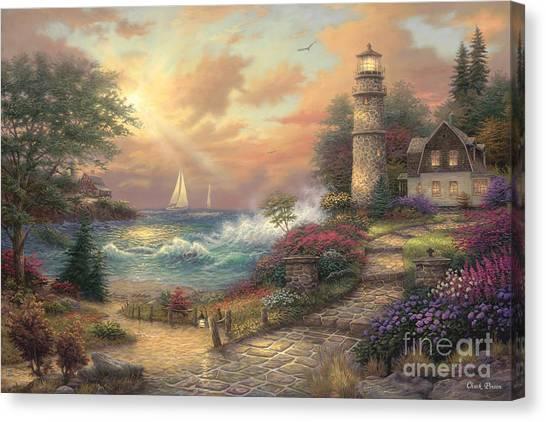 Lighthouses Canvas Print - Seaside Dream by Chuck Pinson