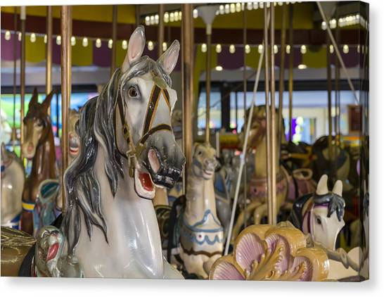 Casino Pier Canvas Print - Seaside Heights Casino Carousel  by Susan Candelario