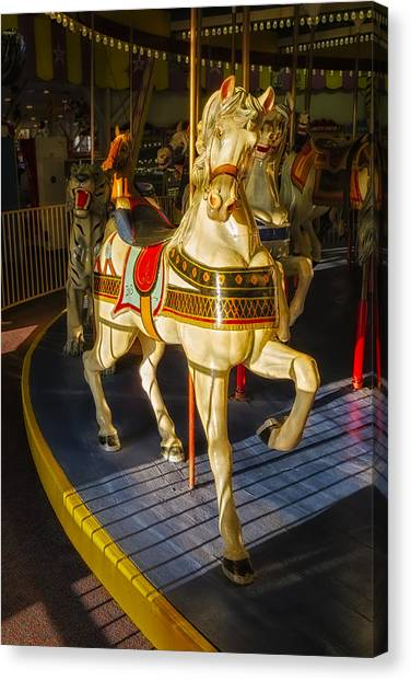 Casino Pier Canvas Print - Seaside Heights Casino Pier Carousel  by Susan Candelario