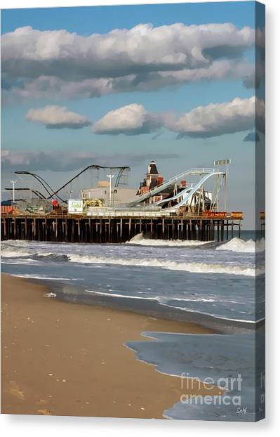 Seaside Heights Roller Coaster 2 Canvas Print