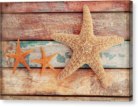 Starfish Canvas Print - Seaside Memories by Cora Niele