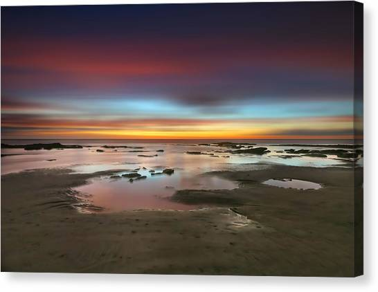 San Diego Canvas Print - Seaside Reef Sunset 14 by Larry Marshall