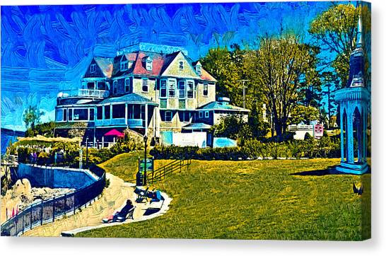 Seaside Resort Canvas Print
