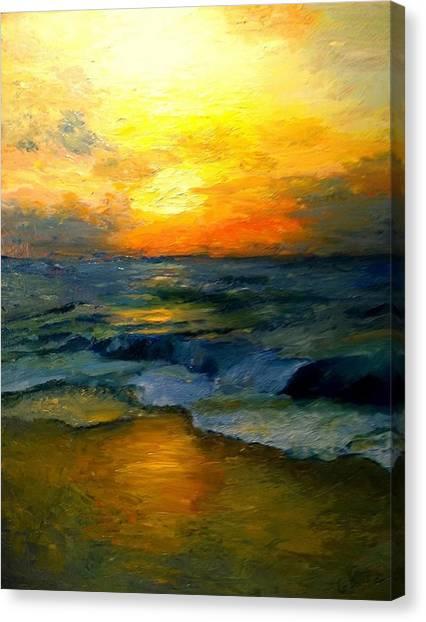 Seaside Sunset Canvas Print