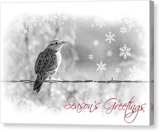 Meadowlarks Canvas Print - Season's Greetings by Elizabeth Budd