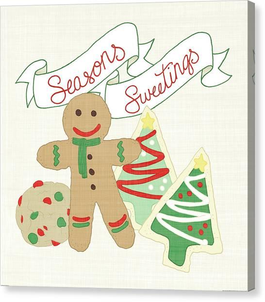 Cooky Canvas Print - Seasons Sweetings Iv V2 by Elyse Deneige