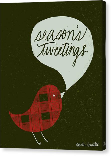 Plaid Canvas Print - Seasons Tweetings by Katie Doucette