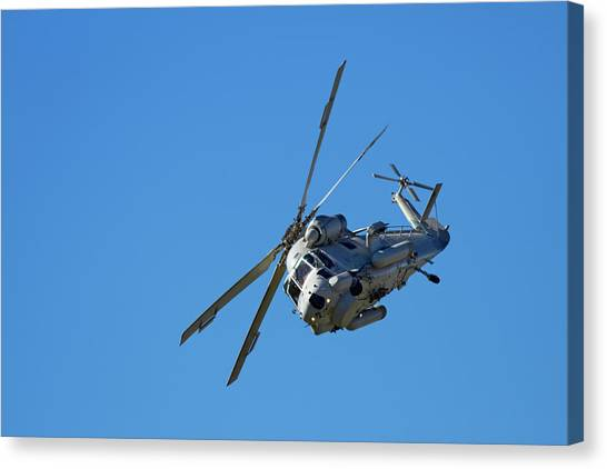 Choppers Canvas Print - Seasprite Helicopter, (kaman Sh 2g by David Wall