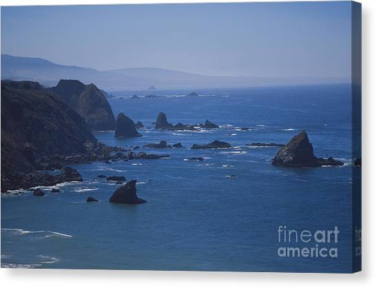 Ocean Of Emptiness Canvas Print - Seastacks by Chris Selby