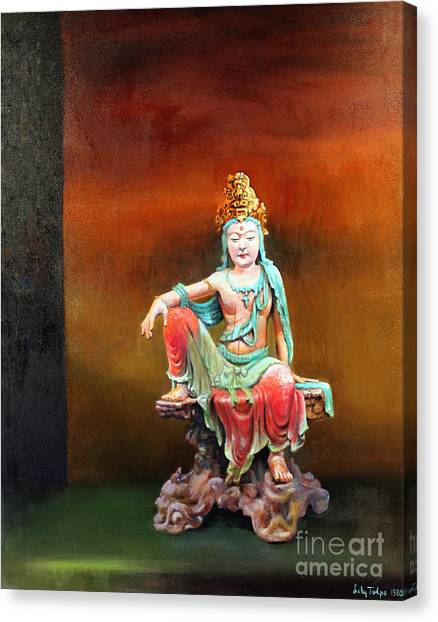 Seated Kuan Yin Canvas Print