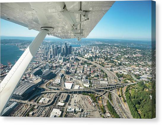 Seattle Aerial View Canvas Print by Franckreporter