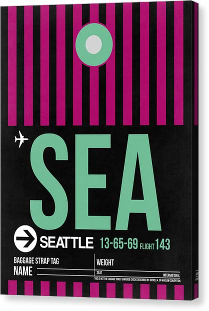 Seattle Canvas Print - Seattle Airport Poster 4 by Naxart Studio