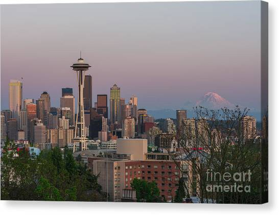 Seattle Sunset Canvas Print