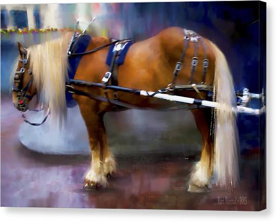Seattle Carriage Horse Canvas Print