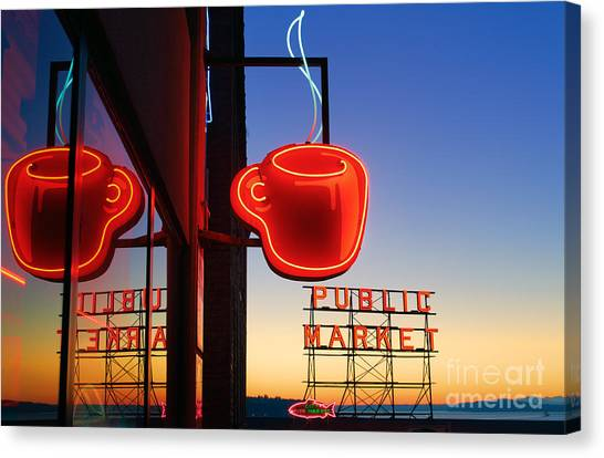 Seattle Coffee Canvas Print