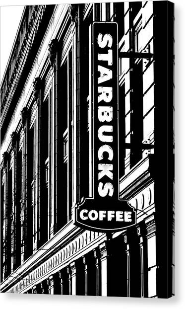 Neoclassical Art Canvas Print - Seattle Icon Black And White by Benjamin Yeager