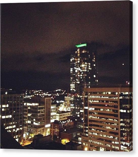 Seattle Skyline Canvas Print - #seattleskyline by Kaylee Cline