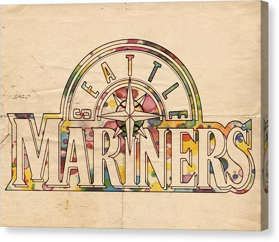 Seattle Mariners Canvas Print - Seattle Mariners Poster Art by Florian Rodarte