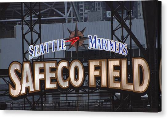 Seattle Mariners Canvas Print - Seattle Mariners Safeco Field by Hugh Carino