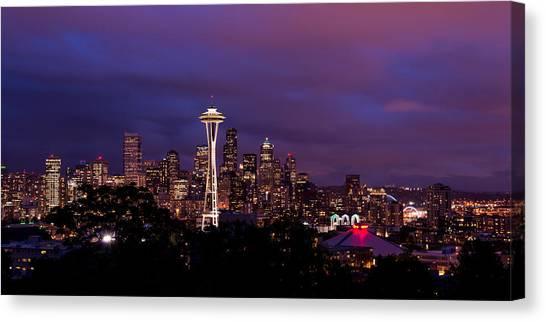 Seattle Canvas Print - Seattle Night by Chad Dutson