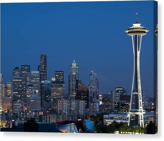 Seattle Nights Canvas Print by David Yack