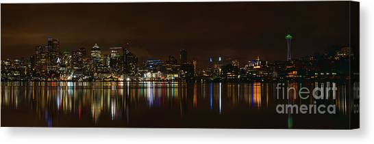Seattle Panorama Canvas Print by Eddie Yerkish