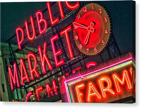 Seattle Pike Street Market Canvas Print
