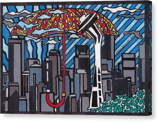 Seattle Rain Canvas Print