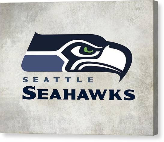 Seattle Seahawks Canvas Print - Seattle Seahawks Fan Panel by Daniel Hagerman