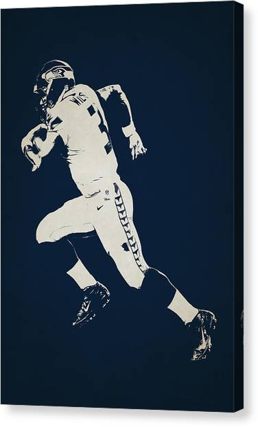 Seattle Seahawks Canvas Print - Seattle Seahawks Shadow Player by Joe Hamilton