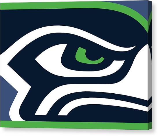 Nfl Canvas Print - Seattle Seahawks by Tony Rubino