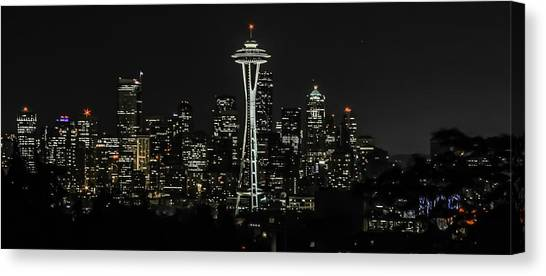 Seattle Skyline From Kerry Park Canvas Print by CarolLMiller Photography