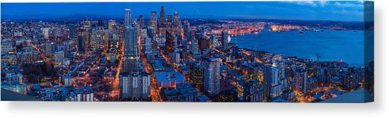 Space Needle Canvas Print - Seattle Skyline From The Space Needle by Mike Reid