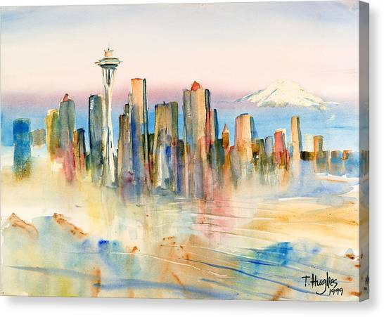 Space Needle Canvas Print - Seattle Skyline by Thomas Hughes