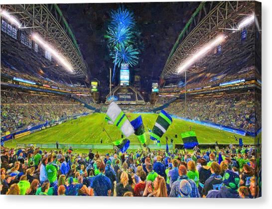 Seattle Sounders Fc Canvas Print - Seattle Sounders Rock by John Farr