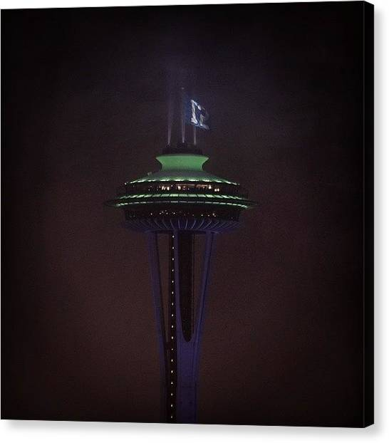 Seattle Seahawks Canvas Print - #seattle #spaceneedle #seahawks by Nathan  Brend