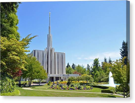 Seattle Temple - Horizontal Canvas Print